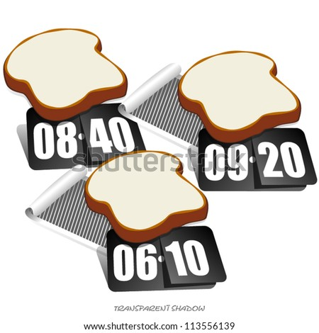 Price Tag Design, Bakery Advertisement Design - stock vector