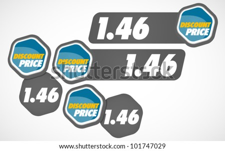 Price Tag - Discount Price - stock vector