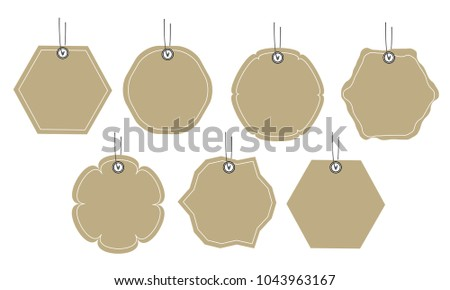 Price Tag Gift Tag Template Sale Stock Vector 1043963167 Shutterstock
