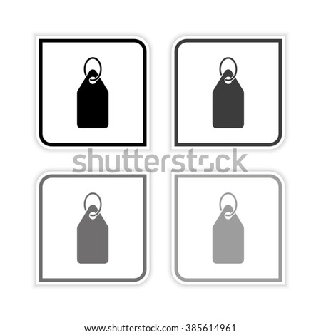 Price tag -  grayscale vector icon - stock vector