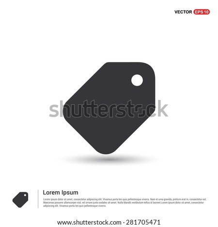 price tag icon - abstract logo type icon - isometric white background. Vector illustration - stock vector