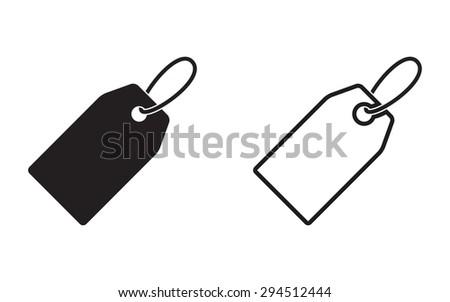 Price Tag Icon On White Background Stock Vector 294512444 ...  White