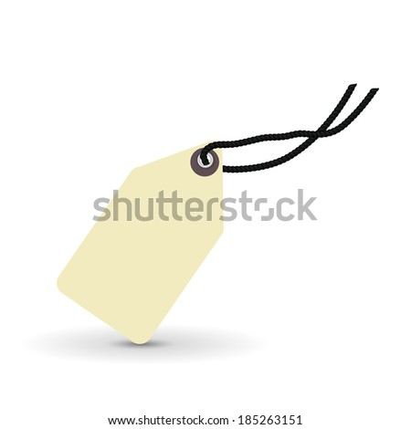 price tag, label, vector illustration - stock vector