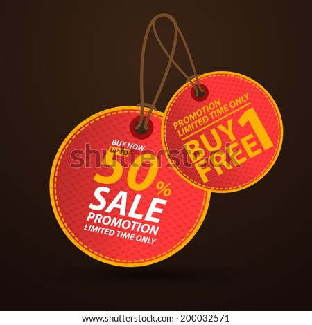 Price tag, sale  - stock vector