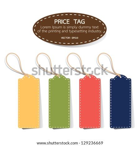 Price Tag, vector - stock vector