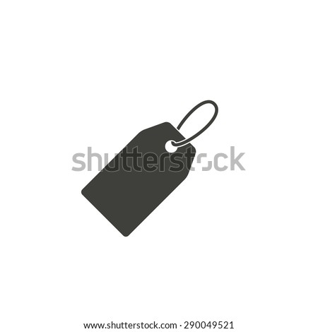 Price tag - vector icon in black on a white background. - stock vector