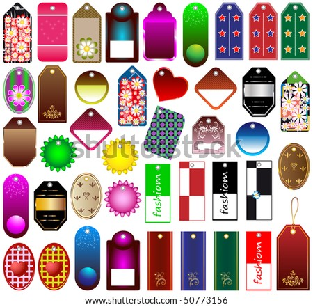 PRICE TAGS COLLECTION - stock vector