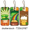 Price tags for the St. Patrick's Day part 2 - stock vector