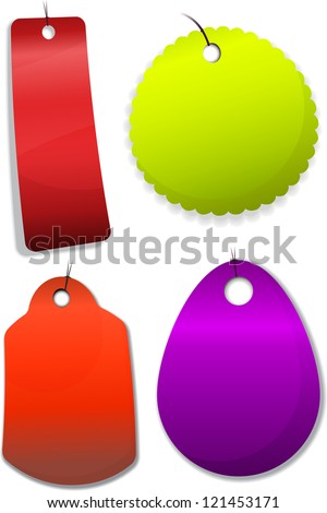 Price Tags. Vector illustration. - stock vector