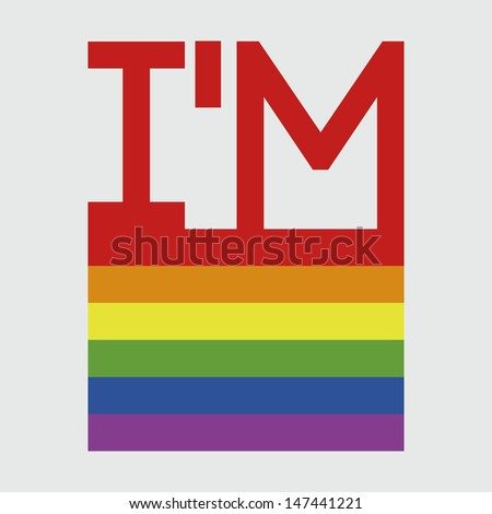 pride flag and declaration of gay pride. - stock vector