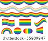 Pride flag artwork and symbols - stock photo