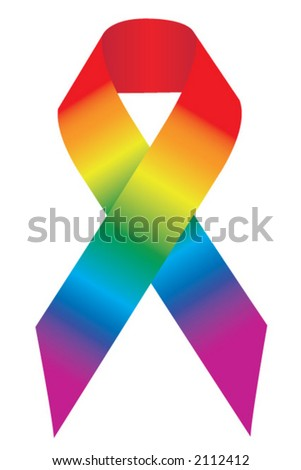 Pride Support Ribbon - stock vector