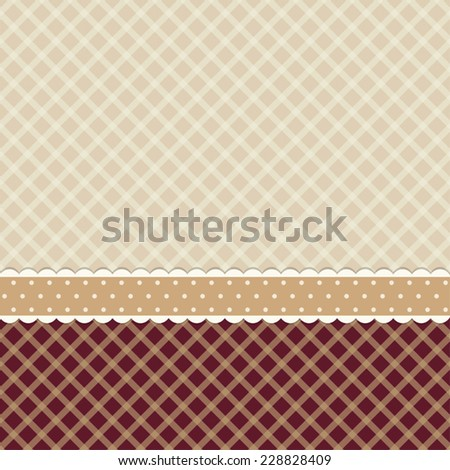 Primitive retro background as wallpaper in shabby chic style - stock vector