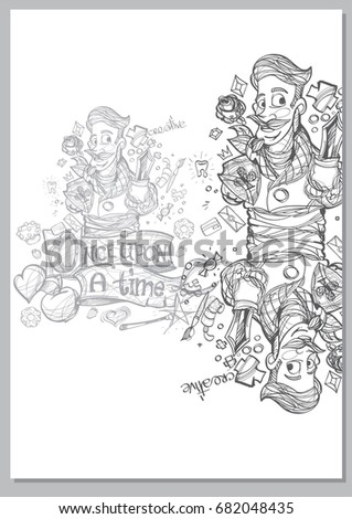 Stock images royalty free images vectors shutterstock for Fairy tale book cover template