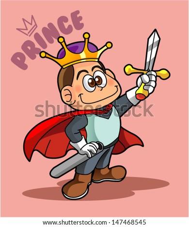 prince cartoon character 2 - stock vector