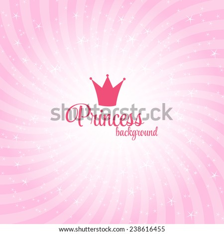 Princess Abstract  Background Vector Illustration.  - stock vector