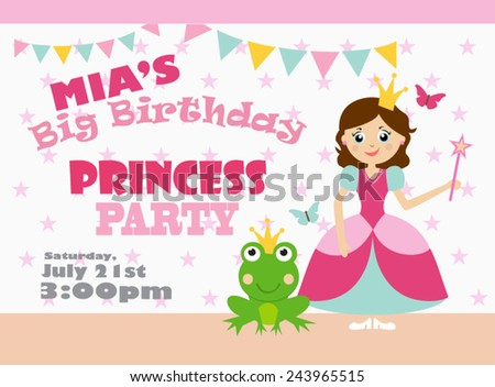 Princess party stock images royalty free images vectors princess birthday party stopboris Image collections