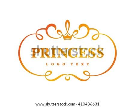 Princess Crown Logo design - stock vector