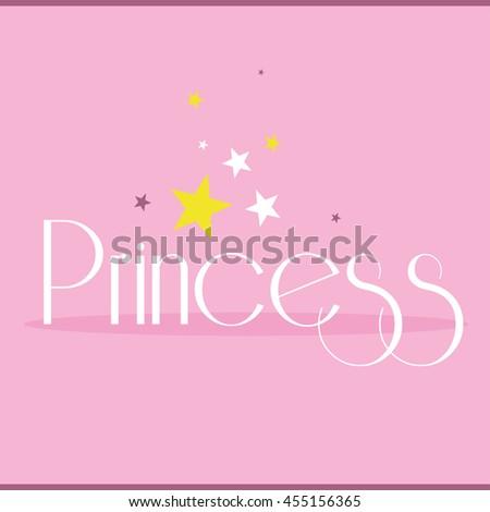 Princess greeting card postcard poster birthday stock vector princess greeting card postcard poster birthday invitation typography background design vector illustration stopboris Image collections
