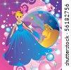 Princess of the night, book illustration - stock photo