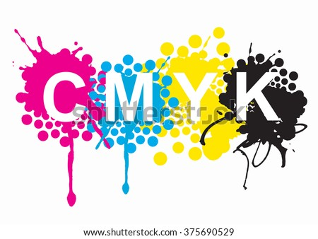Print Colorssign Can Magenta Yellow Black Inks And Sign On White Background Concept