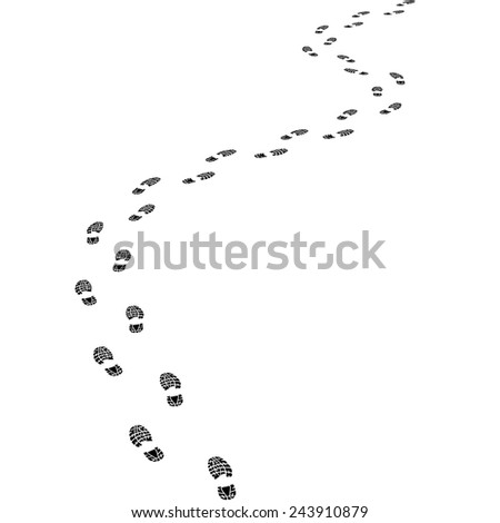 print footwear trace - stock vector