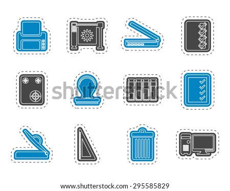Print industry Icons - Vector icon set - stock vector