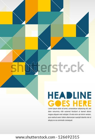 Print/Poster Design Template. Layout Design/Background - stock vector