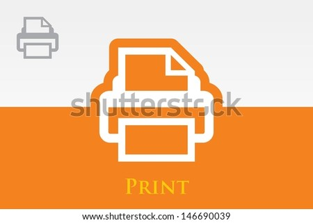 Print (Printer) Icon - stock vector