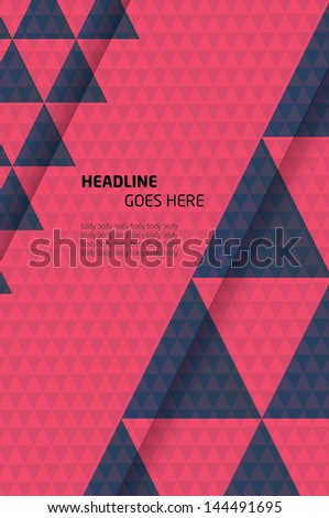 Print/Vector Poster Design Template/Layout Design/Background/Graphics - stock vector
