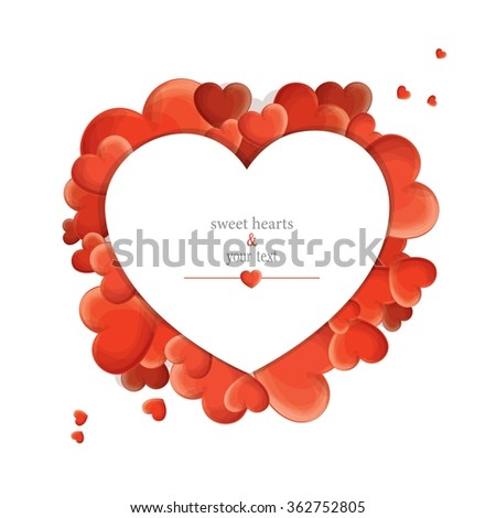 print with red hearts