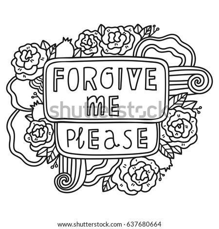 Printable Forgive Me Sticker Fun Summer Stock Vector 637680664