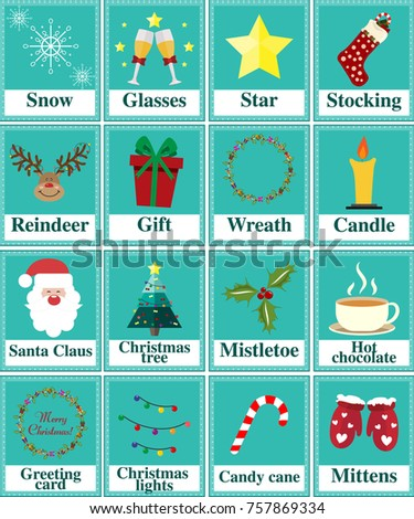 Printable Worksheet Pupils About Christmas Christmas Stock Vector ...