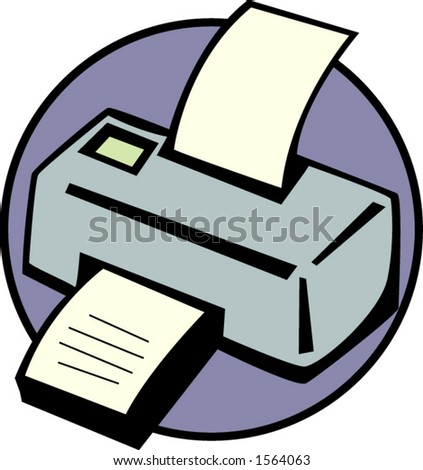 printer - stock vector