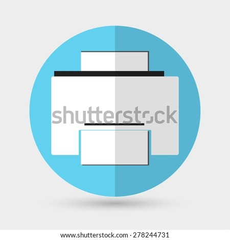 Printer icon - stock vector