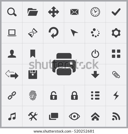 printer icon. app icons universal set for web and mobile