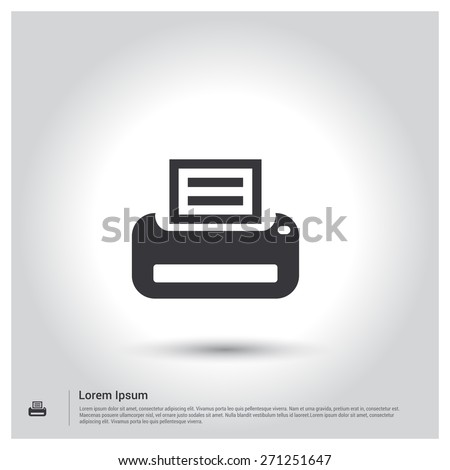Printer icon pictogram icon on gray stock vector 271251647 printer icon pictogram icon on gray background vector illustration for web site mobile voltagebd Choice Image
