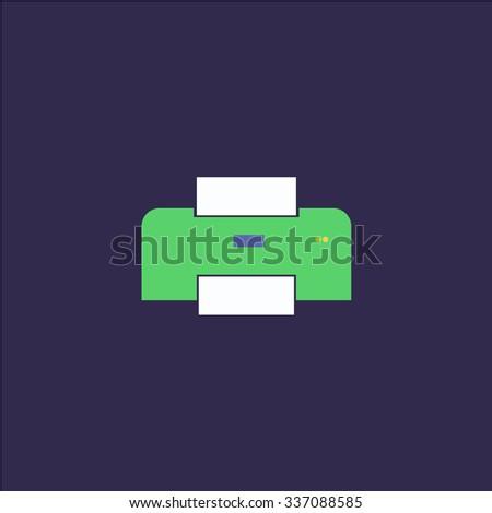 Printer. Icon Vector. Icon Picture. Icon Graphic. Icon Art. Icon JPG. Icon JPEG. Icon EPS. Icon AI. Icon FLAT. Icon SIMPLE - stock vector