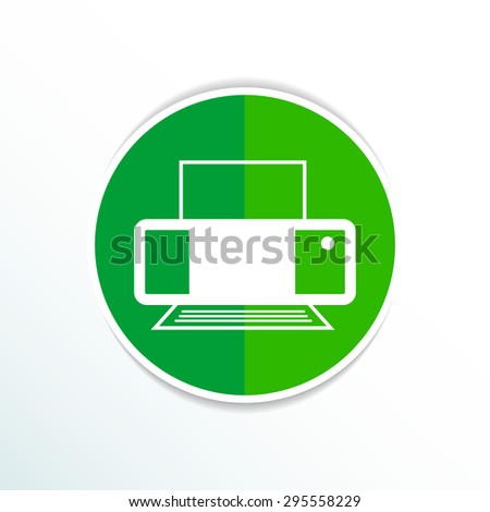 Printer icon vector illustration document print fax. - stock vector