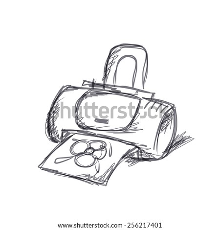 Printer sketch for your design. Vector illustration - stock vector