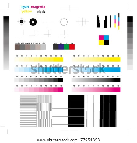 printing marks - stock vector