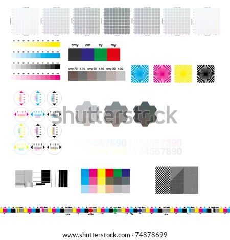 Printing TestArch - stock vector