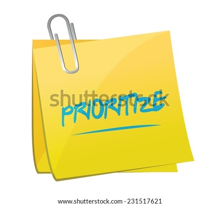 prioritize post memo illustration design over a white background - stock vector