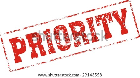 priority Grungy ink stamp, vector format very easy to edit