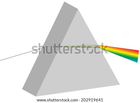 Prism Physics Class Lesson - stock vector