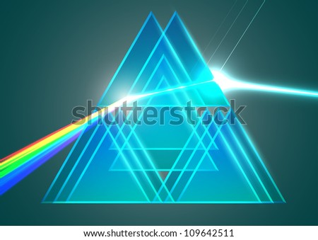 Prisms and refraction - stock vector
