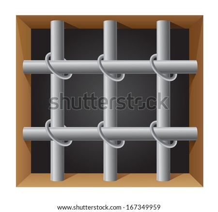 prison bar vector illustration isolated on white background - stock vector