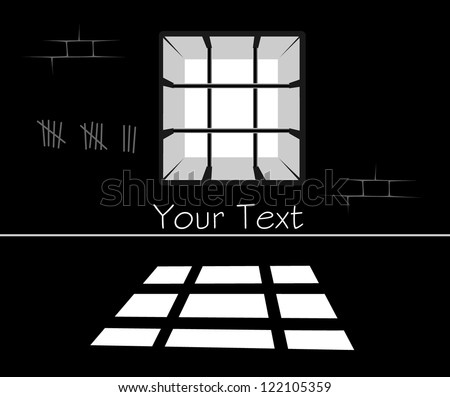prison cell. vector illustration - stock vector