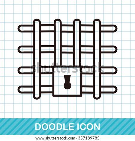 Prison doodle - stock vector