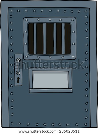 Prison door on a white background vector illustration - stock vector